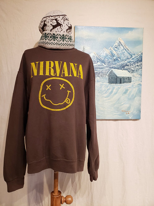 Upcycled Nirvana sweater