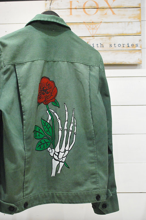 Bleach Blonde Clothing Hand Painted Jacket