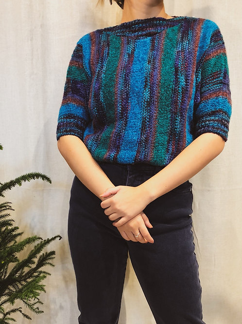 Vintage Teal Short Sleeve Sweater
