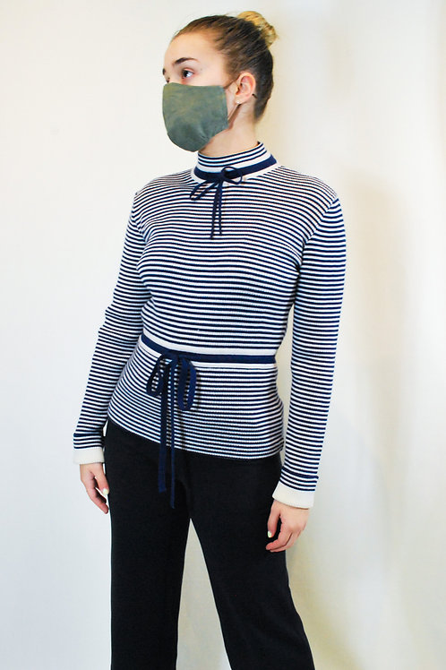 Vintage Navy Striped Sweater