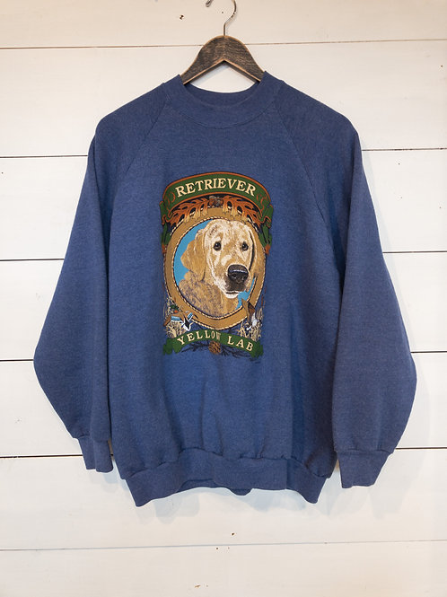Blue Yellow Lab Sweatshirt