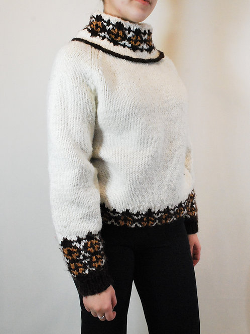 Hand Knit Nordic Sweater