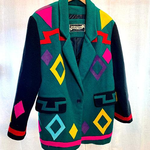 Vintage Patch Wool Jacket