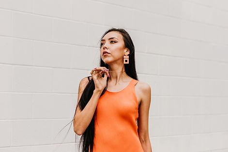 Kirstin-Tom-Orange-90's-dress