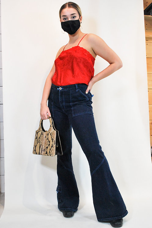 Stone Flared Jeans