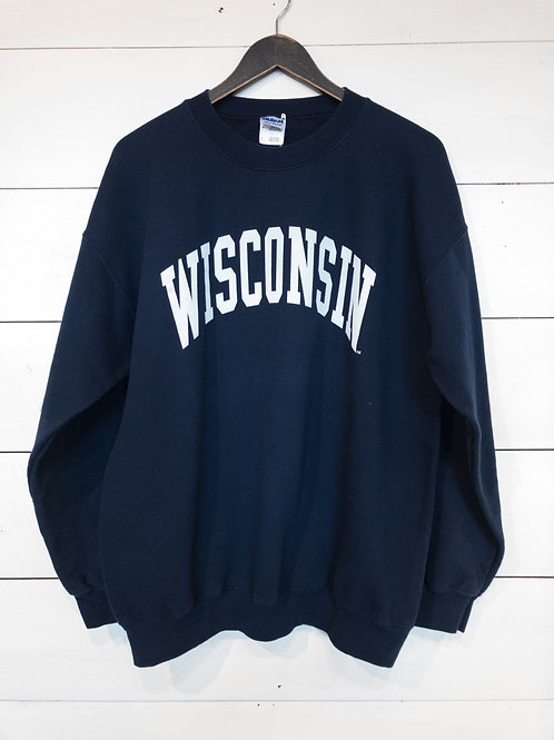 Navy Wisconsin Sweatshirt