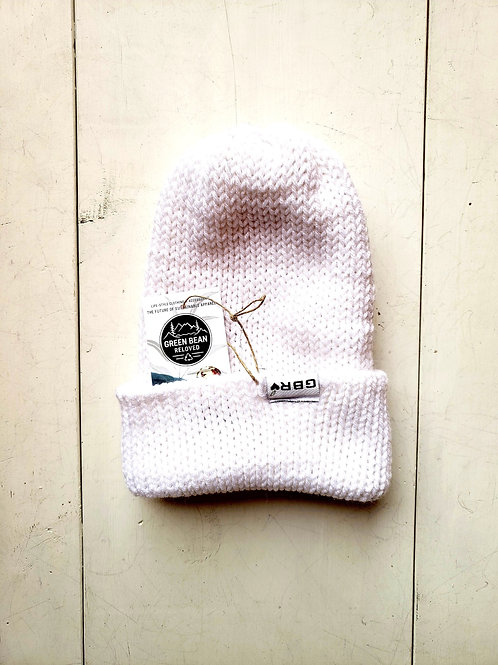 Green Bean Reloved Upcycled Toque Winter White