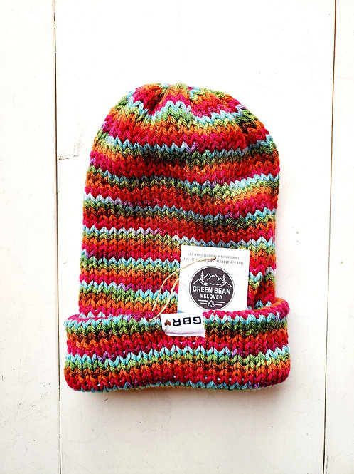 Green Bean Reloved Upcycled Toque Stripe