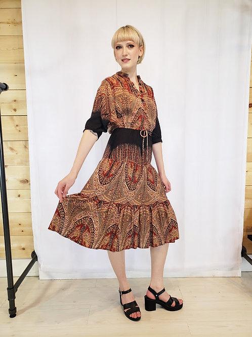 Vintage French Fact Boho Dress