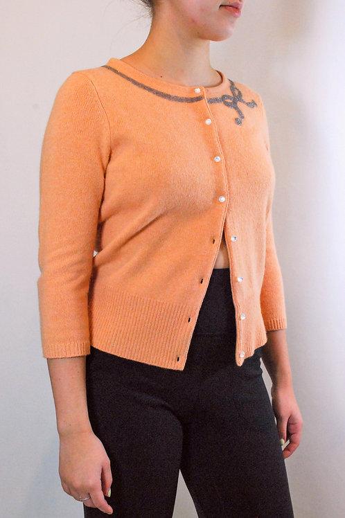 Peach Beaded Cardigan