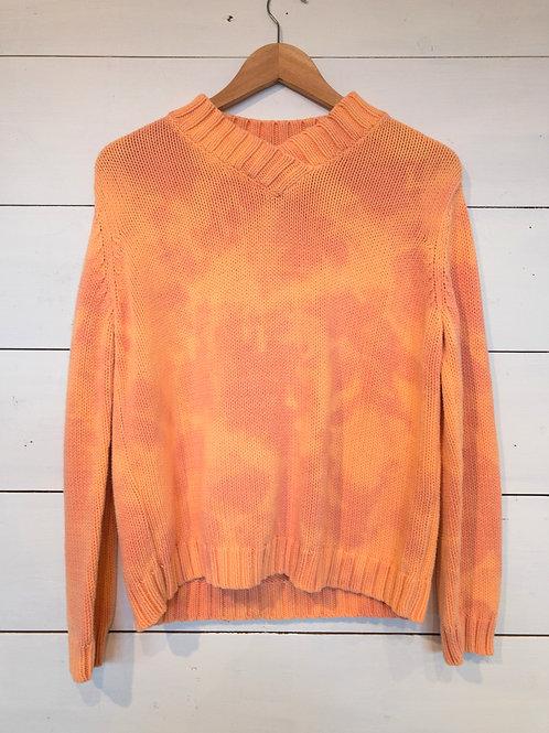 Tangerine Tie Dye Sweater