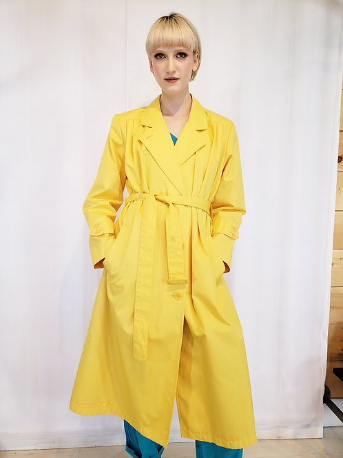 London Fog Canary Yellow Raincoat