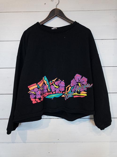Vintage Ocean Pacific Cropped Sweatshirt