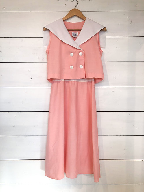 80's Peach Pink Daydress