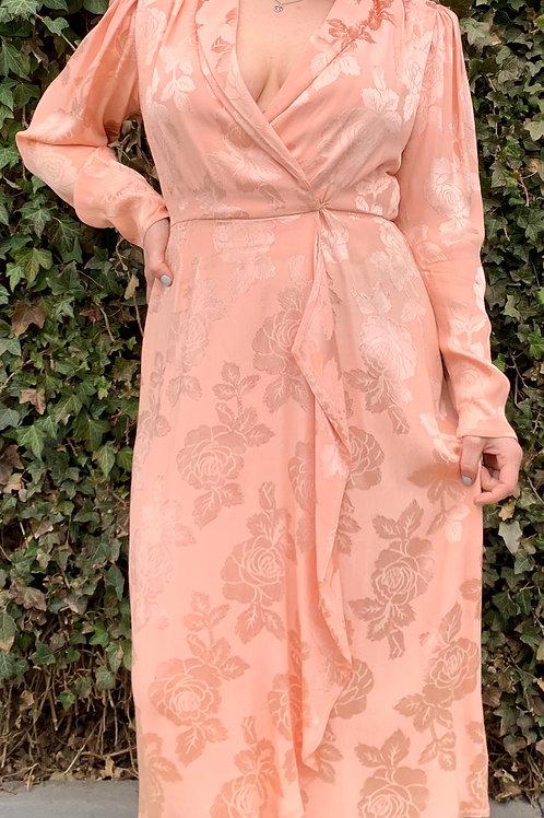 80's Pink Wrap Dress