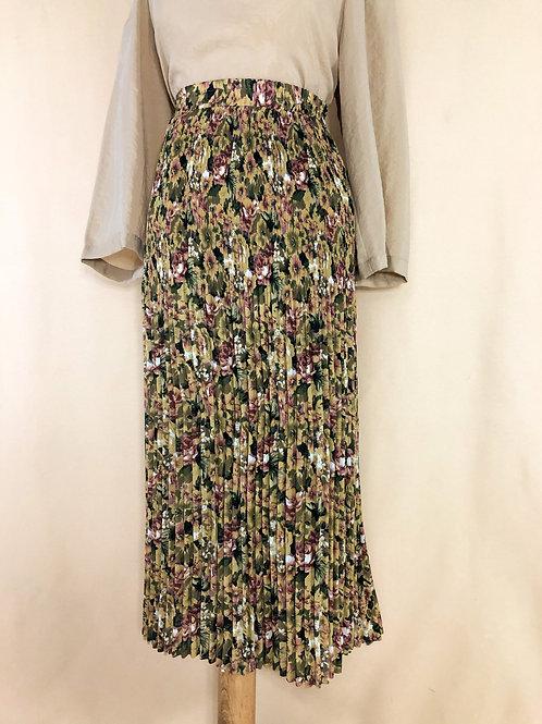 Chiffon Floral Accordian Skirt