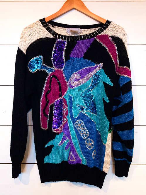 80's Bedazzled Sweater