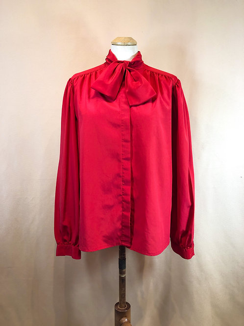 Cherry Red Vintage Blouse