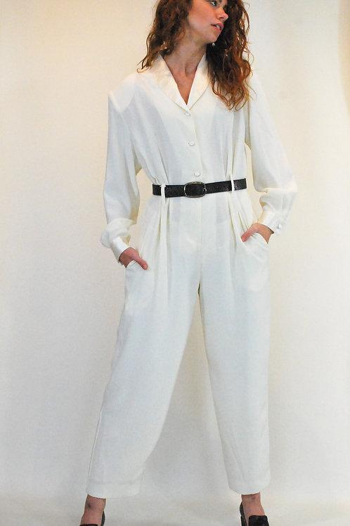 80's Cream Jumpsuit