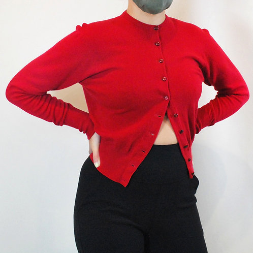 Dalkeith Red Cardigan