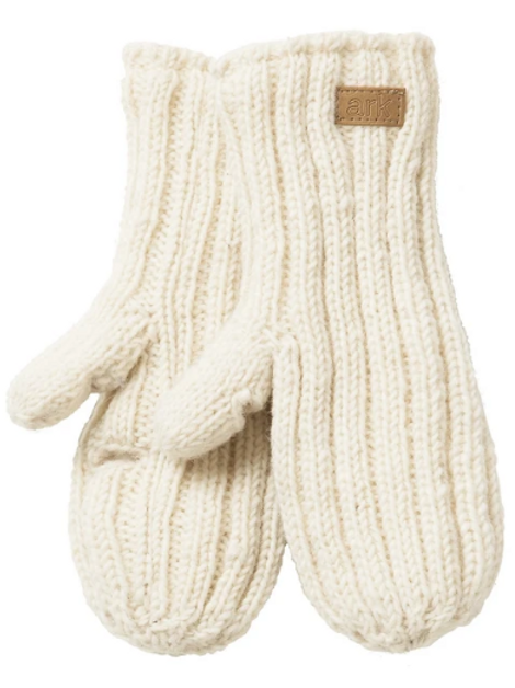 Ribbed Wool Texting Mitts