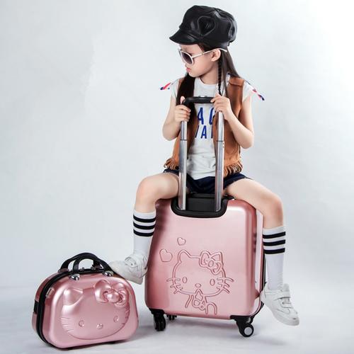 Kids Hello Kitty Suitcase Bag Set Women Luggage Gift For Children Cartoon Rolli Gillstravels