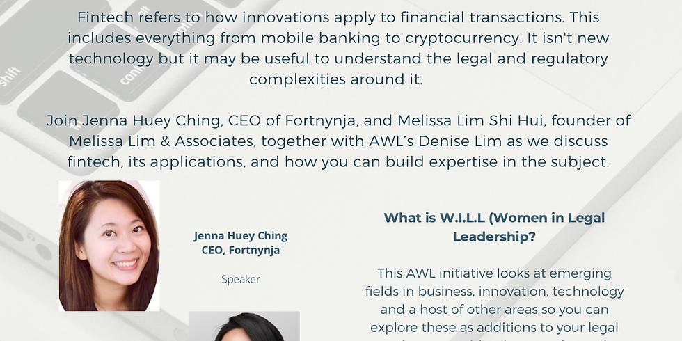 W.I.L.L (Women in Legal Leadership)   Career Options in Fintech & LegalTech