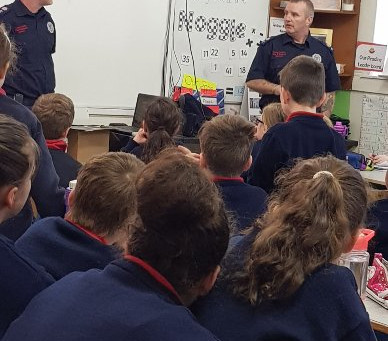 Thank you to our local firemen from Kilrush fire station for teaching us about fire safety