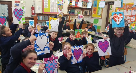 Love was in the air in the senior room this morning. For art we made lovely hearts with pastels.