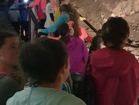 We visited crag cave and active kingdom in Tralee on our school tour.