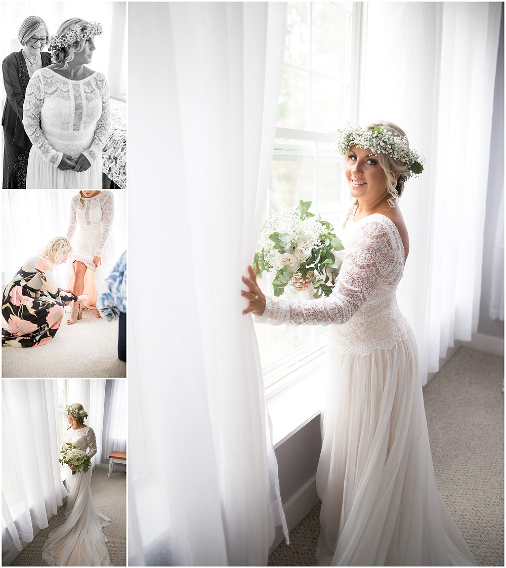 Bride in Wedding Dress, North Carolina Wedding
