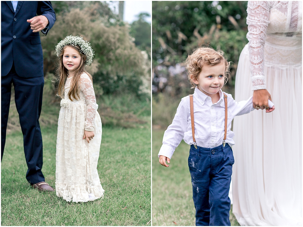 Flower Girl and Ring Bearer, North Carolina Wedding