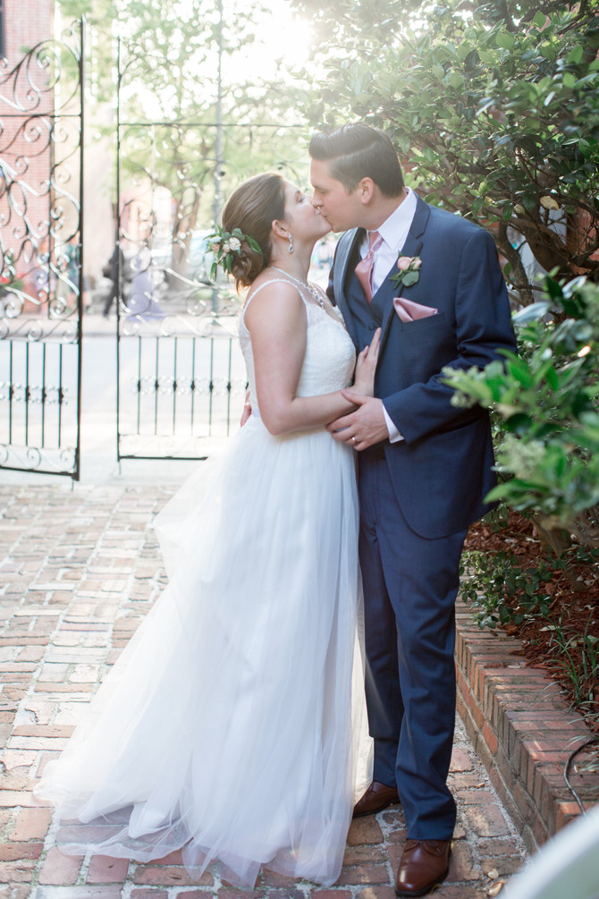 Bianca and Connor's Wedding - Isaac Taylor Garden - New Bern, North Carolina