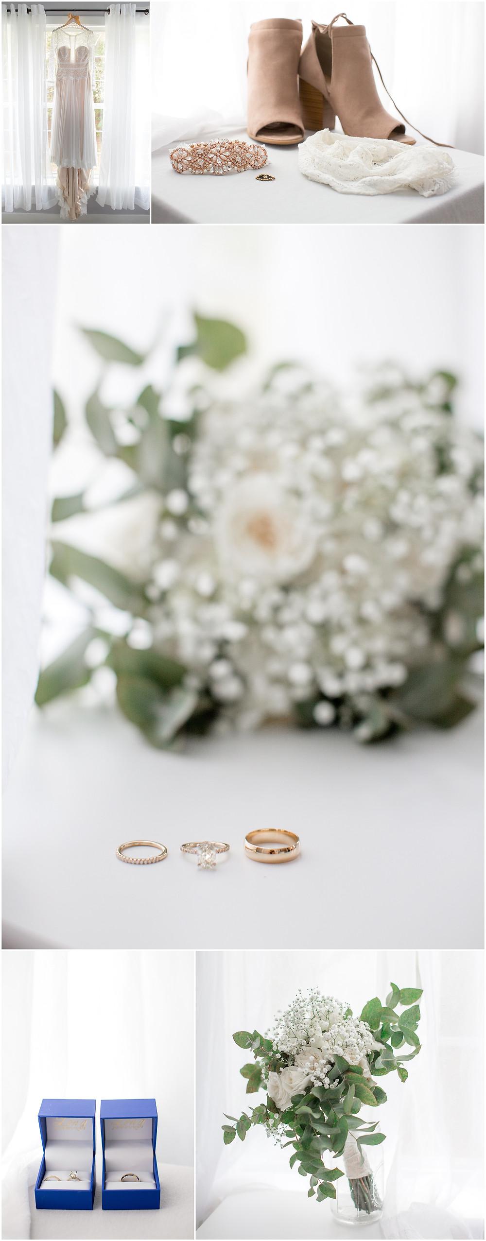 Wedding Dress, Wedding Shoes, North Carolina Wedding Photography