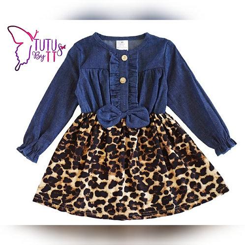 Leopard & Denim Dress