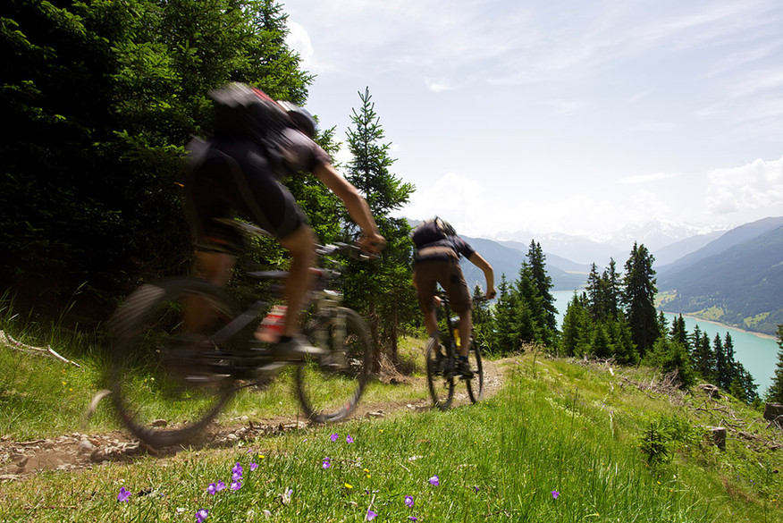 Radtour zum Reschensee