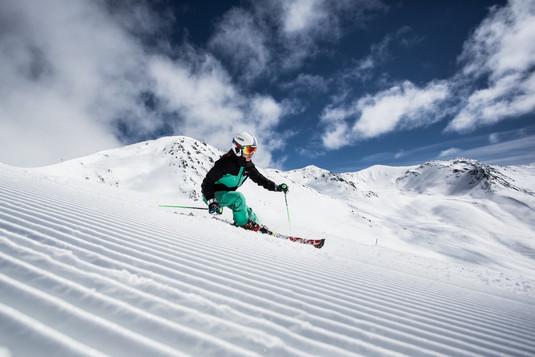 Nauders im Winter - Skigebiet Bergkastel