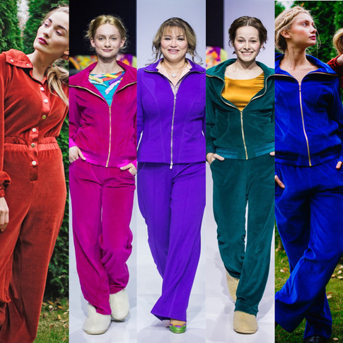 Sport and luxury can be mixed up. Couture tracksuits by DressTheatre by Dora Blank