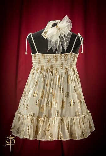 Girl suit: chiffon sundress and silk pants DressTheatre Couture