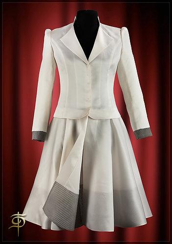 Cloak of organza with contrasting trim. DressTheatre Couture