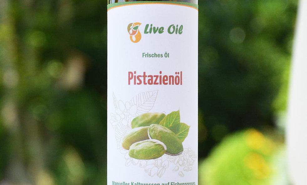 100% pistachio oil. Live Swiss. Squeezed on the oak press.