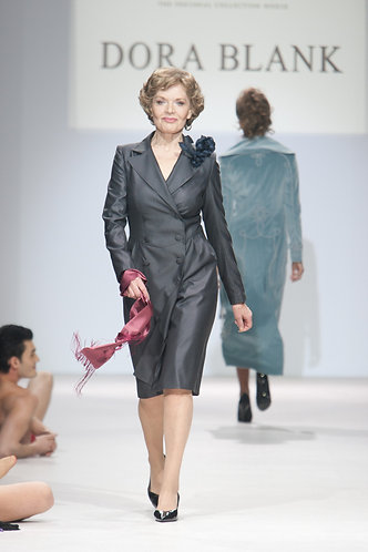 Dress-suit made of wool with silk