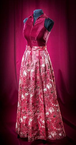 Комбинезон и юбка из шелковой органзы с отделкой кантами . DressTheatre Couture