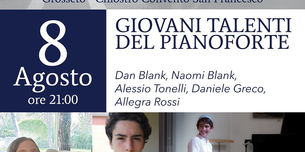 Concert of young pianists in Tuscany