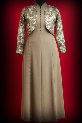 Платье из шерсти и болеро из кружева