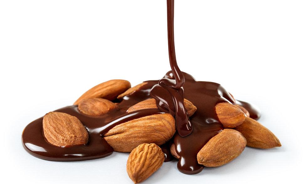 Raw Almonds Chocolate Cream