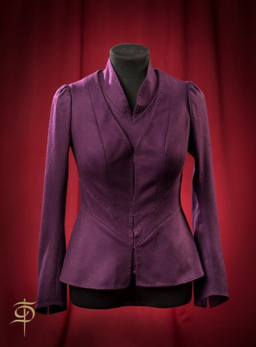 Set made of wool: blouse and jacket with decor DressTheatre Couture