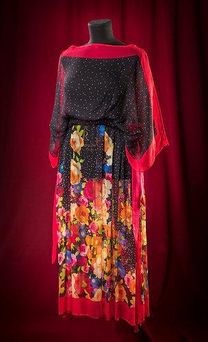 Накидка из шифона Valentino.   DressTheatre Couture