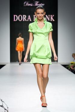 Коктейльное платье из тафты.