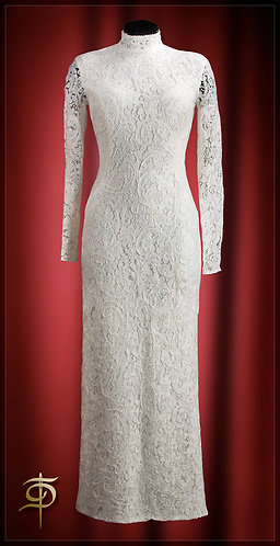Dress made of wool lace. DressTheatre Couture by Dora Blank